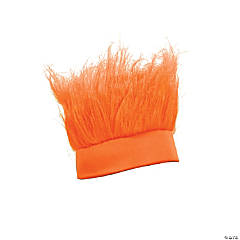 Synthetic Orange Crazy Hair Headband