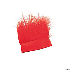 Synthetic Red Crazy Hair Headband