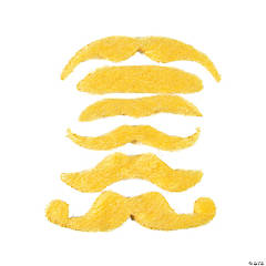 Synthetic Yellow Mustache Assortment