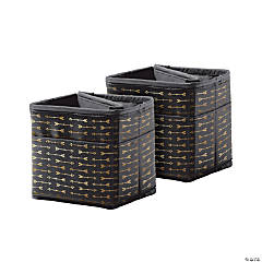 Tabletop Storage: Black with Gold Arrows, 2 Per Set, 2 Sets