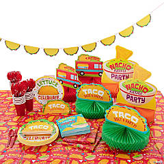 Taco Party Tableware Kit for 24 Guests