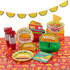 Taco Party Tableware Kit for 8 Guests