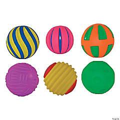 Tactile Squeak Balls, 6 per pack