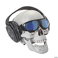 Talking Skull with Headphones