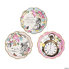 Talking Tables Truly Alice Dessert Plates - 12 Ct.