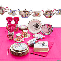 Talking Tables Truly Alice Party Tableware Kit for 24 Guests
