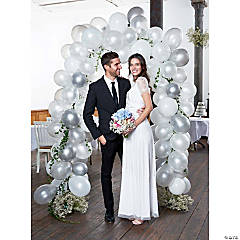 Talking Tables White & Silver Balloon Arch Kit