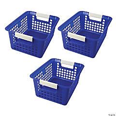 Tattle® Book Basket, Blue, Set of 3