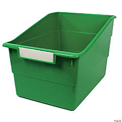 Tattle® Shelf File with Label Holder, Wide, Green, Set of 3
