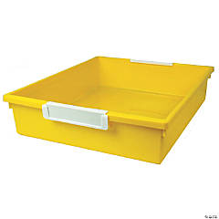 Tattle™ Tray with Label Holder, 6 Qt., Yellow, Set of 3
