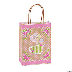 Tea Party Kraft Paper Gift Bags