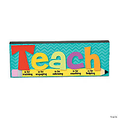 Teach Inspirational Décor Block