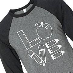 Teacher Love Adult's T-Shirt