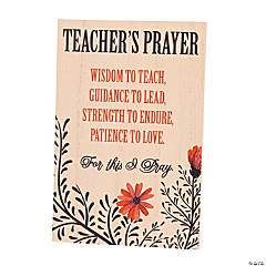 Teacher's Prayer Sign