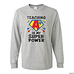Teaching Is My Superpower Adult's T-Shirt