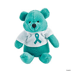 Teal Awareness Ribbon Stuffed Bears