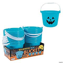 Teal Jack-o'-Lantern Buckets