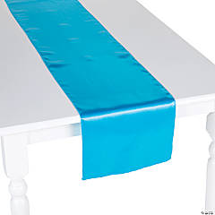 Teal Satin Table Runner