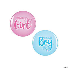Team Boy & Team Girl Buttons