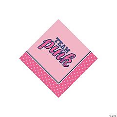 Team Pink/Blue Beverage Napkins