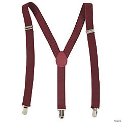 Team Spirit Suspenders - Burgundy