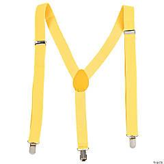 Team Spirit Suspenders - Yellow
