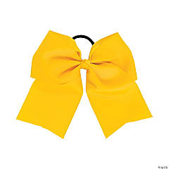 Team Spirit Yellow Hair Bow