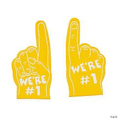 Team Spirit Yellow Mini Foam Fingers