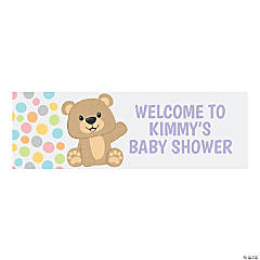 Teddy Bear Custom Banner - Medium