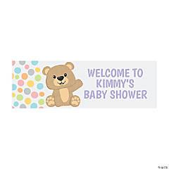 Teddy Bear Custom Banner - Small