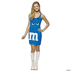 Teen Girl's Blue M&M's® Tank Dress Costume - Standard