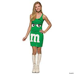 Teen Girl's Green M&M's® Tank Dress Costume - Teen 14-16