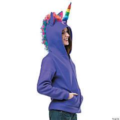 Teen Girl's Purple Unicorn Hoodie Costume