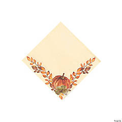 Thank-Fall Beverage Napkins