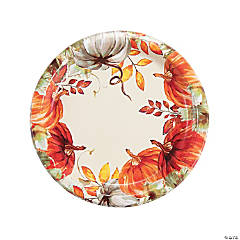 Thank-Fall Paper Dinner Plates - 8 Ct.