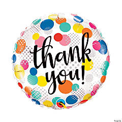"Thank You Dots Upon Dots 18"" Mylar Balloon"