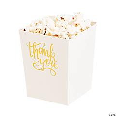 Thank You Foil Popcorn Boxes