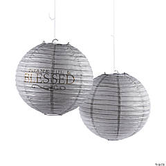 Thankful & Blessed Hanging Paper Lantern Assortment