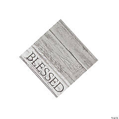 Thankful Blessed Beverage Napkins