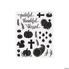 Thankful Blessed Mason Jar Decals