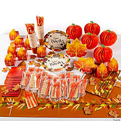 Thanksgiving Tableware Kit for 48 Guests