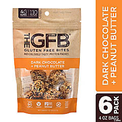 The GFB Gluten Free Bites - Dark Chocolate & Peanut Butter (4 oz, 6 Pack)