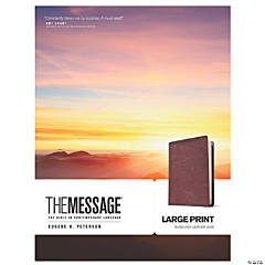 The Message Large Print Bible - Burgundy