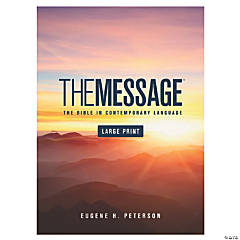 The Message Large Print Bible - Hardcover