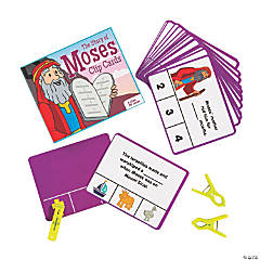 The Story of Moses Bible Comprehension Clip Cards