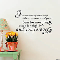The Sun, Moon & You Wall Decal