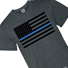Thin Blue Line Adult's T-Shirt - Extra Large