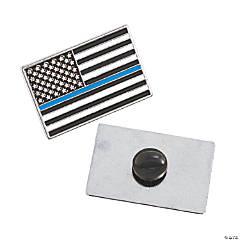 Thin Blue Line Enamel Pins