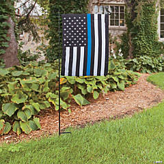 Thin Blue Line Garden Flag