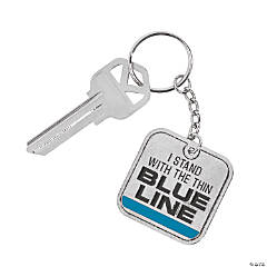 Thin Blue Line Keychains